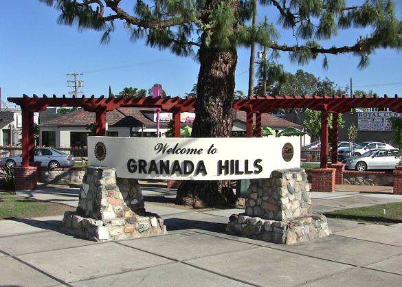 The witness could not see windows or markings on the cylinder-shaped object. Pictured: Granada Hills, CA. (Credit: Wikimedia Commons)