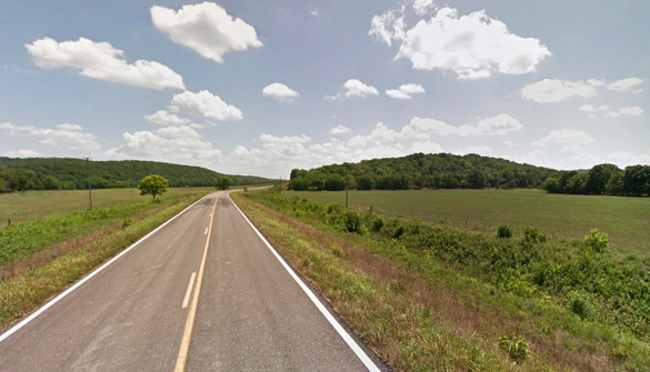 A Wright County, MO, rancher isn't taking any chances and has moved his entire herd to a new location after one of his calves was mutilated on July 15, 2014. Pictured: Wright County, MO. (Credit: Google)