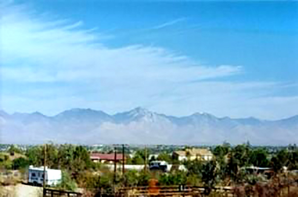 The witness and his wife took a roadside break in 1992 in Ridgecrest, CA, when multiple UFOs moved toward their location. Pictured: Ridgecrest, CA. (Credit: Google)