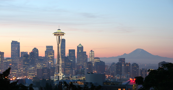 The witness first thought the object was a fast moving jet on March 30, 2016. Pictured: Seattle, WA. (Credit: Wikimedia Commons)