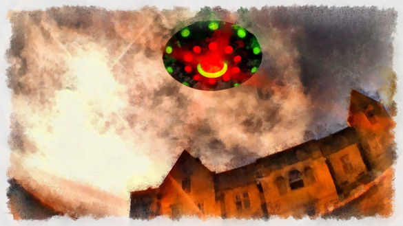 Hundreds of people in Michigan reported UFOs in the skies of Michigan in early March 1994. (Credit: Illustration by Raphael Terra)