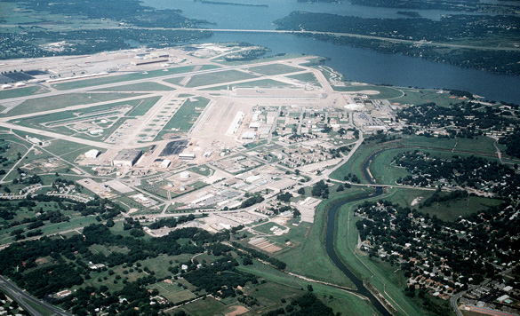 Naval Air Station Fort Worth Joint Reserve Base is the former Carswell Air Force Base located near White Settlement, TX. (Credit: Wikimedia Commons)