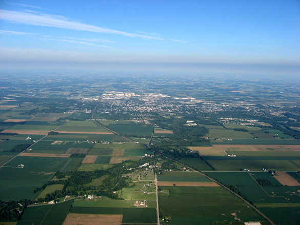 Sidney, OH, pictured from the east, is the county seat of Shelby County. (Credit: Wikimedia Commons)
