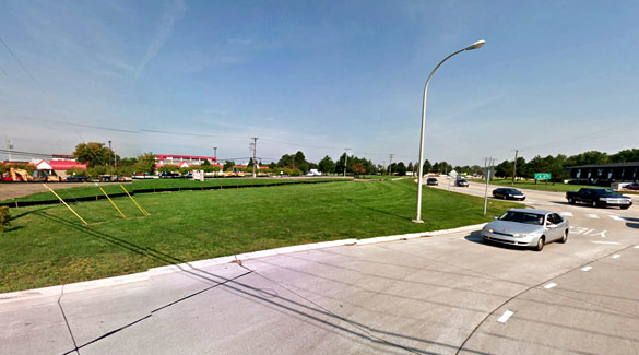 The witness saw the object hovering just 100 feet off of the ground. Pictured: Clinton Township, MI. (Credit: Google)