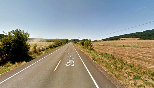 The witness and his wife were outside on July 14, 2016, when the object crossed their property just four feet off of the ground. Pictured: Lebanon, Oregon. (Credit: Google)