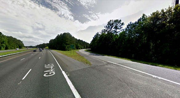 The witness was northbound along I-95 at the Woodbine exit, pictured, when the object was first seen. (Credit: Google)