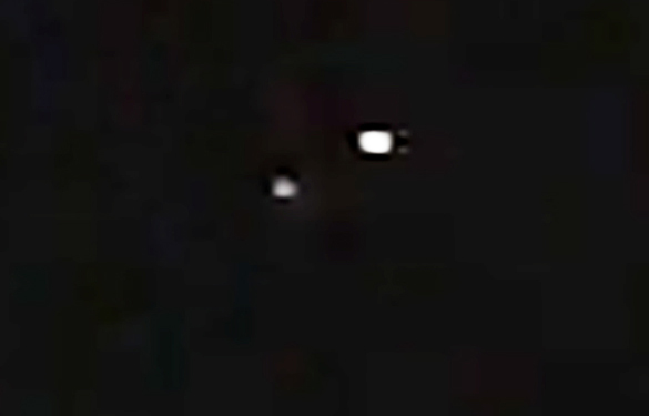 Cropped and enlarged portion of the witness video. (Credit: MUFON)