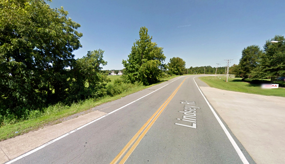 The witness saw the light while traveling along Lindsey Road approaching the FedEx facility, pictured. (Credit: Google)