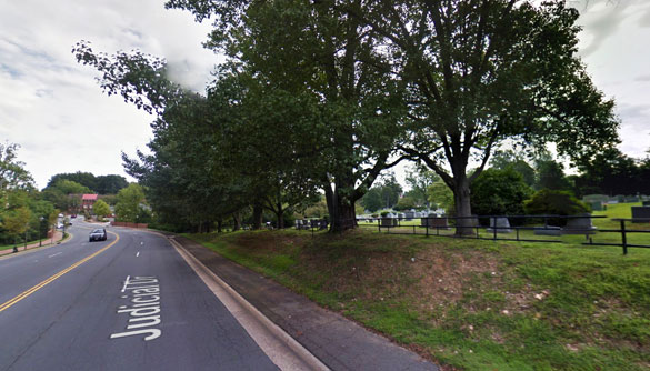 The witnesses first noticed lights at a distance that were not blinking as they were walking near a cemetery. Pictured: Fairfax, VA. (Credit: Google Maps)