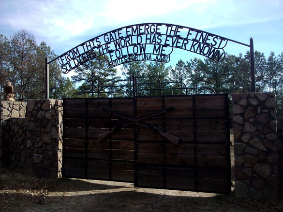 The witness heard about the UFO from fellow soldiers who were out on a training exercise the previous day. Pictured: Fort Benning, GA. (Credit: Google)