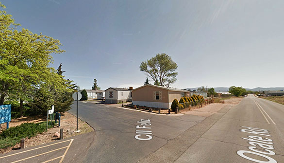 The witness was 11 years old when he saw the hovering disc. Pictured: Santa Fe, NM. (Credit: Google)