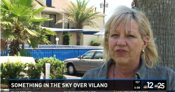 Hotel Manager Debbie Whaley said this was not the first time guests reported watching UFOs. (Credit: First Coast News)