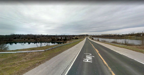 The witness and her son noticed a 'fiery image' just ahead of them that could not be identified. Pictured: Mexico, Missouri. (Credit: Google)
