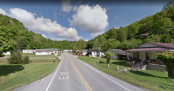 The witness said the object was solid, but the back half appeared to be transparent. Pictured: Hindman, Kentucky. (Credit: Google)