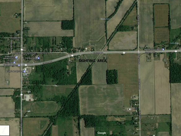 Stretch of Corunna Road in Lennon, MI, where the incident occurred June 8, 2017. (Credit: Google)