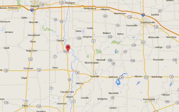Newport is about 30 miles directly north of Terre Haute, IN. (Credit: Google Maps)