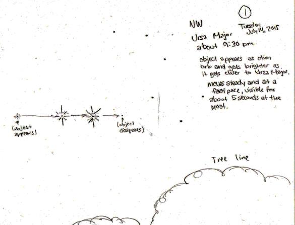 Witness illustration #1. (Credit: MUFON)