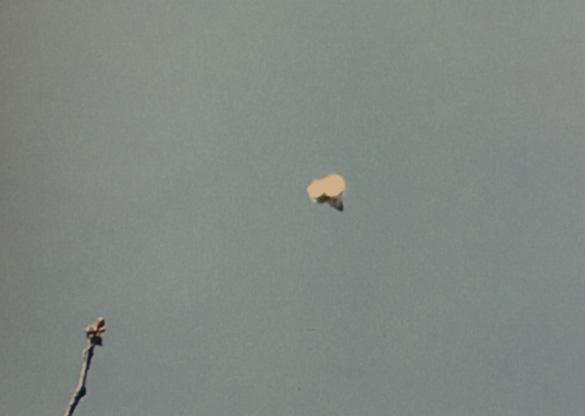 Sandra Stuteley's UFO image. (Credit: Peterborough Telegraph)