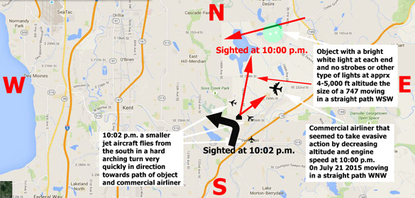 Map of the sighting area. (Credit: MUFON)