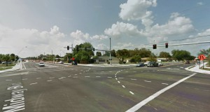 The Charlotte, FL, witness was westbound along Midway Boulevard when traffic slowed to a stop as a UFO moved overhead. Pictured: Charlotte, FL. (Credit: Google)