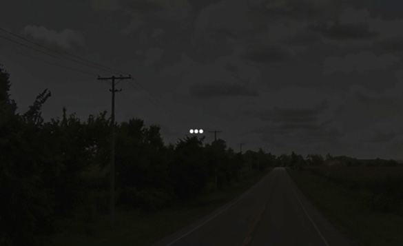 Cropped and enlarged portion of witness illustration #1. (Credit: MUFON)