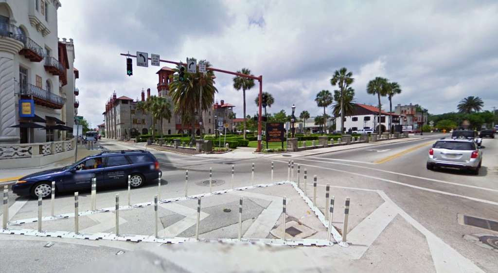 The object made no noise and was described by the witness as cloaking itself. Pictured: St. Augustine, FL. (Credit: Google)