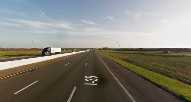 The two objects crossed over the highway at about 1,000 feet. Pictured: I-35 near Walburg, TX. (Credit: Google)