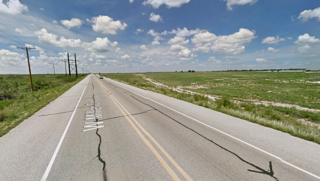 The witnesses' vehicle shut off at the same point where the disc-shaped object was hovering directly above them. Pictured: Hobbs, NM. (Credit: Google)