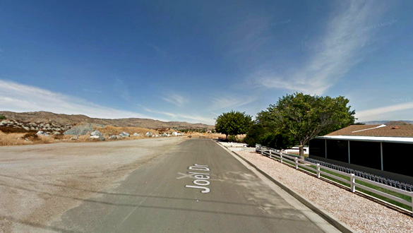 The witness reported seeing a jet chasing a cylinder-shaped object. Pictured: Winchester, CA. (Credit: Google)