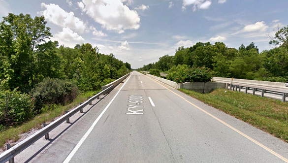 The object finally turned 90 degrees and accelerated out of sight quickly. Pictured: Graham, KY. (Credit: Google)
