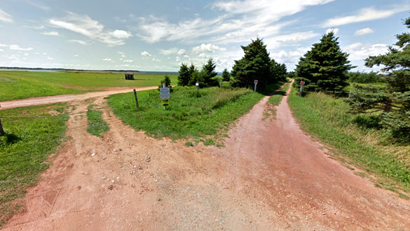 The object hovered for about 15 minutes; and reappeared – or a second object appeared – and continued to hover. Pictured: Prince Edward Island, Canada. (Credit: Google)