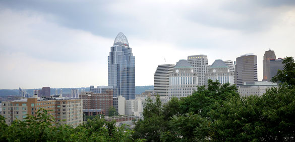 With a population over 200,000, the witness said there was no one else on the busy street that night during the encounter. Pictured: Downtown Cincinnati. (Credit: Wikimedia Commons)