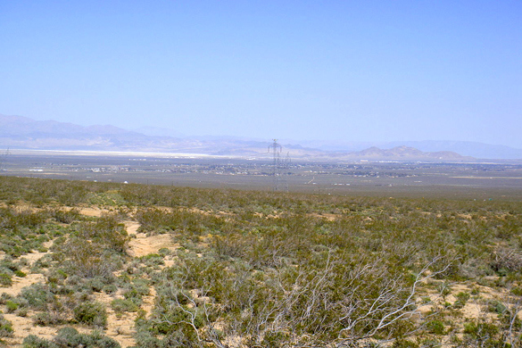 One of the objects moved very close to the couple and at near ground level. Pictured: Ridgecrest, CA. (Credit: Google)