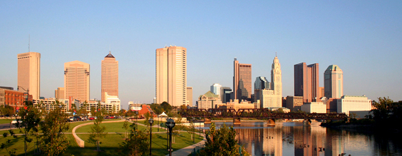 The object seemed to be just several hundred feet in the air. Pictured: Columbus skyline. (Credit: Wikimedia Commons)