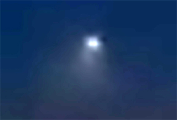 Cropped, enlarged and enhanced version of a still shot from the witness video. (Credit: MUFON)