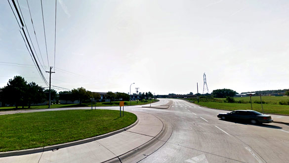 The object was visible for just a few seconds and then vanished. Clinton Township, MI. (Credit: Google)