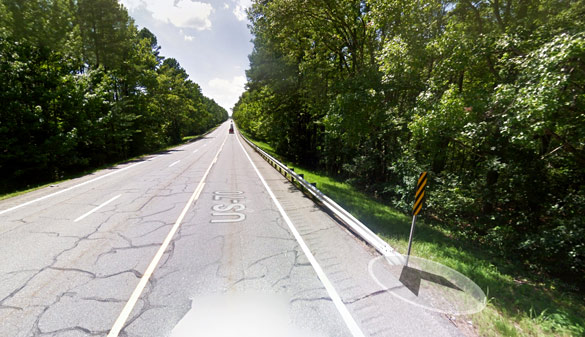 The witness was westbound along Highway 70 about a half-mile past the 70 and 128 intersection, pictured, when the incident occurred. (Credit: Google)