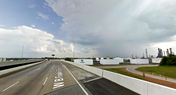 The witness decided not to stop along I-55 to take pictures as it was not safe. (Credit: Google)