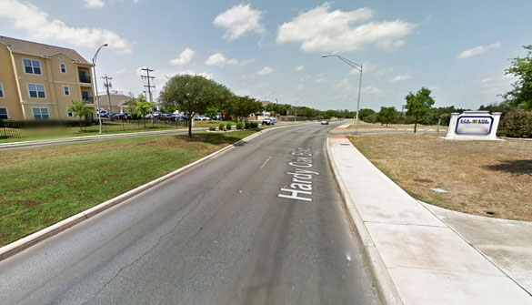 The witness is sure it was not a known object. Pictured: Hardy Oak Boulevard in San Antonio. (Credit: Google Maps)
