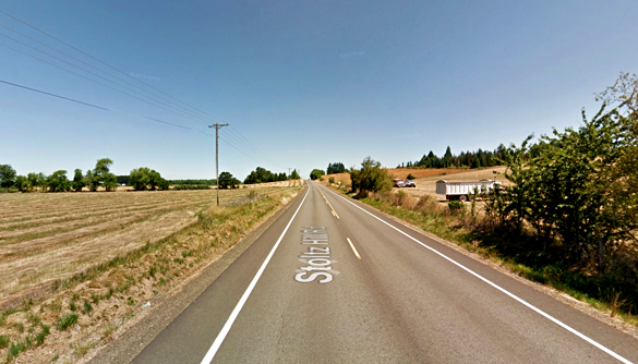 The object created a distortion in the air that seemed like looking through water. Pictured: Lebanon, Oregon. (Credit: Google)