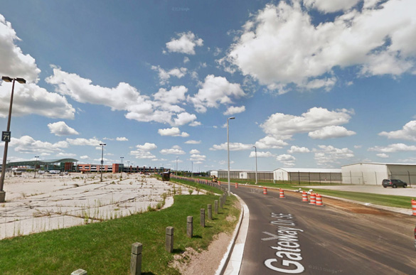 The witness says the first object was slow moving under 500 feet and less than 500 feet away. Pictured: Gerald R. Ford International Airport, Grand Rapids. (Credit: Google)