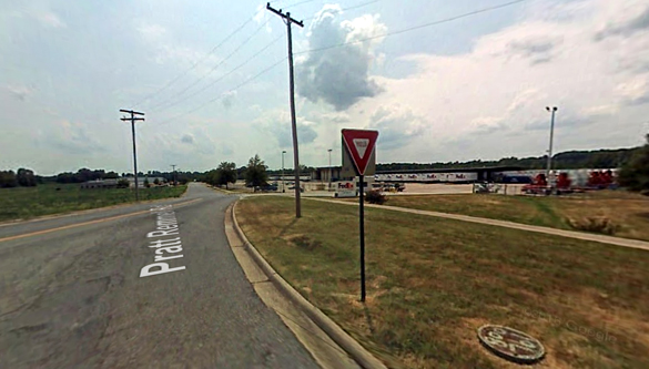 The object was the size of a watermelon at arm's length. Pictured: Lindsey Road in Little Rock, AR. (Credit: Google)