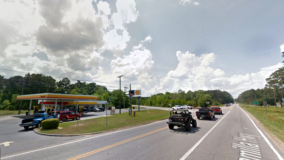 The object was hovering in place. Pictured: Moultrie, GA. (Credit: Google)