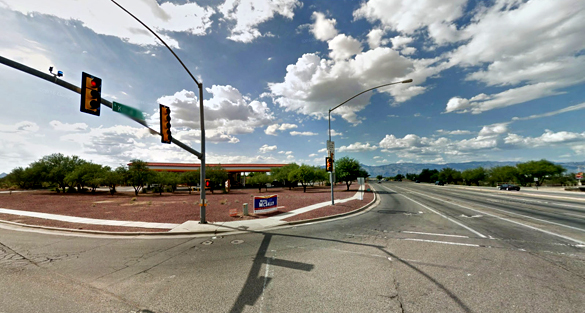 The witnesses followed the object along Old Vail Road to S. Kolb Road, pictured. (Credit: Google)