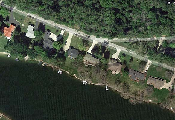 The object appeared to change shape at one point. Pictured: Little Long Lake. (Credit: Google)