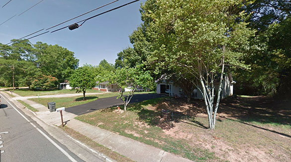 The witness could clearly see what the military helicopter was chasing. Pictured: Cumming, GA. (Credit: Google)