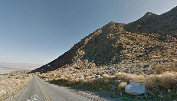 The witness noticed a red glowing object on the ground below the helicopter. Pictured: Palm Springs Tramway area. (Credit: Google)