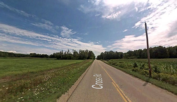 The object appeared to be 100 to 150 feet long. Pictured: Suamico, Wisconsin. (Credit: Google)