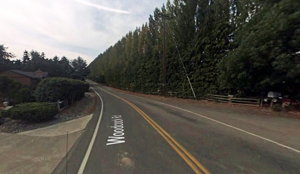 The object was about 30 to 40 feet away and 25 to 30 feet off the ground. Pictured: Sequim, WA. (Credit: Google)