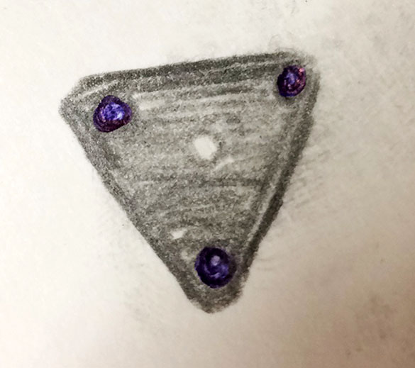 Witness illustration of the triangle object. (Credit: MUFON)